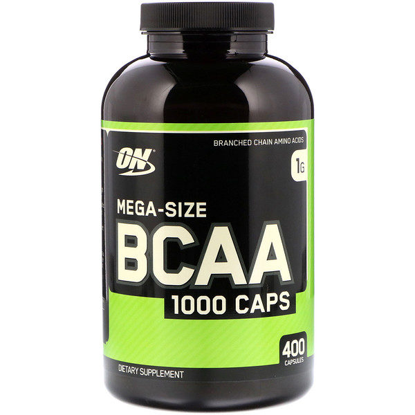Optimum Nutrition, BCAA 1000 Caps, 1 г, 400 капсул