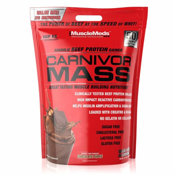 MuscleMeds Carnivor Mass Anabolic Beef Protein Gainer
