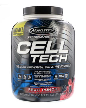 Muscletech, Cell Tech, The Most Powerful Creatine Formula, Fruit Punch, 6.00 lb (2.72 kg)