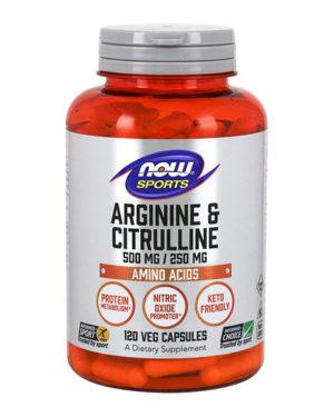Arginine 500 мг & Citrulline 250 мг 120 капс