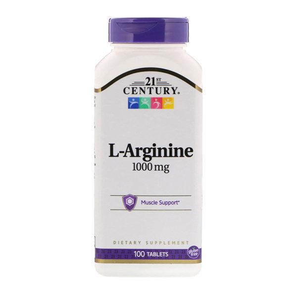 21st Century, L-Arginine, 1,000 mg, 100 таблеток