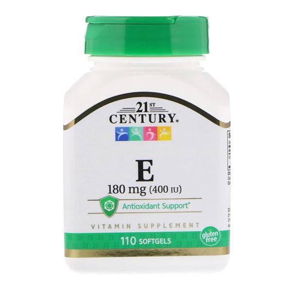 21st Century, Vitamin E, 180 mg (400 IU),110 капсул
