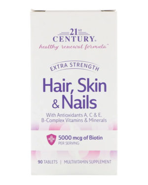21st Century, Hair, Skin & Nails, Advanced Formula, 90 таблеток