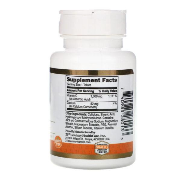 21st Century, Vitamin C, 1,000 mg, 60 таблеток