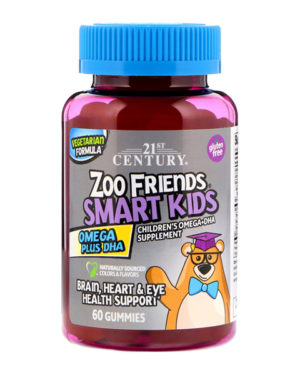 21st Century, Zoo Friends, Smart Kids, Omega Plus DHA,  60 жевательных