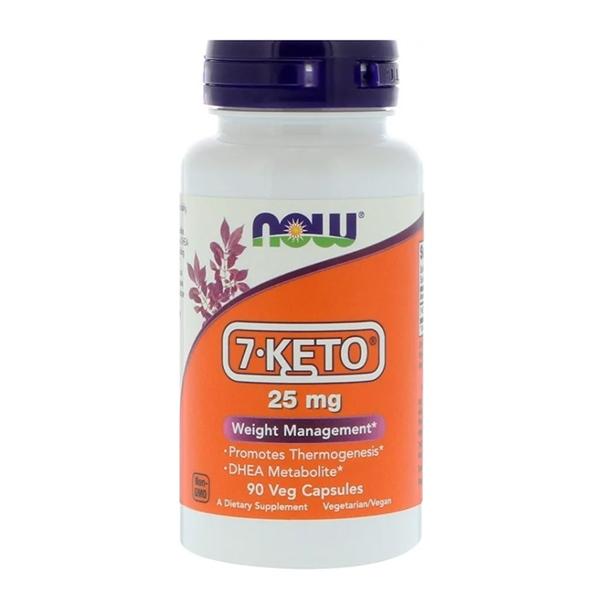 Now Foods, 7-KETO, 25 мг, 90 растительных капсул