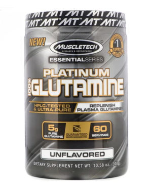 Muscletech, Essential Series, Platinum 100% Glutamine, Unflavored, 5 g, 10.58 oz (300 g)
