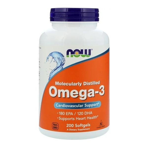 Now Foods, Molecularly Distilled Omega-3, 200 Softgels