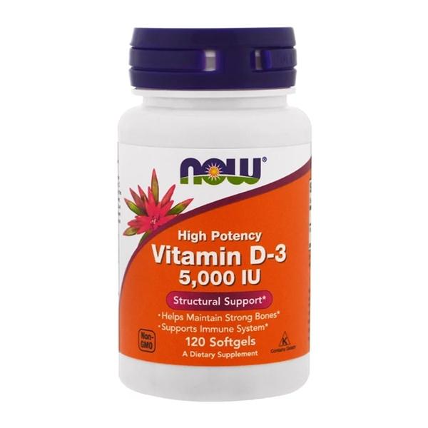 Now Vitamin D3 5,000 IU 120 Softgels