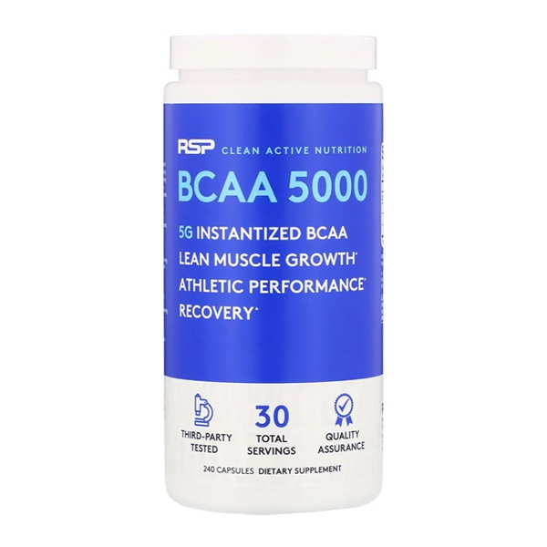 RSP Nutrition, BCAA 5000, 240 капсул