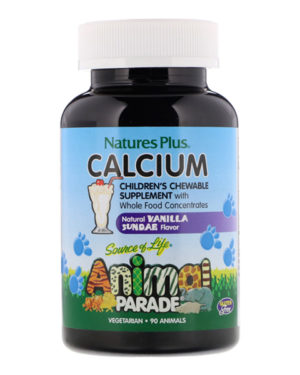 Nature's Plus Animal Parade Calcium  (90 Animals-Shaped tablets)