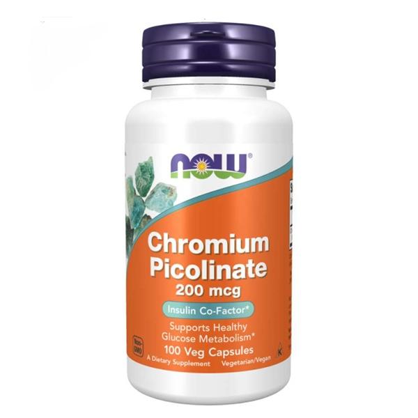 Now Foods, Chromium Picolinate, 200 mcg, 100 Veg Capsules