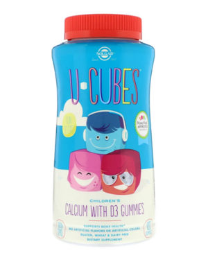Solgar, U-Cubes, Children's Calcium With D3, 120 жевательных таблеток
