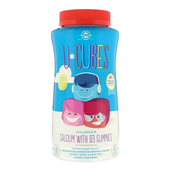 Solgar, U-Cubes, Children's Calcium With D3, 120 жевательных таблеток