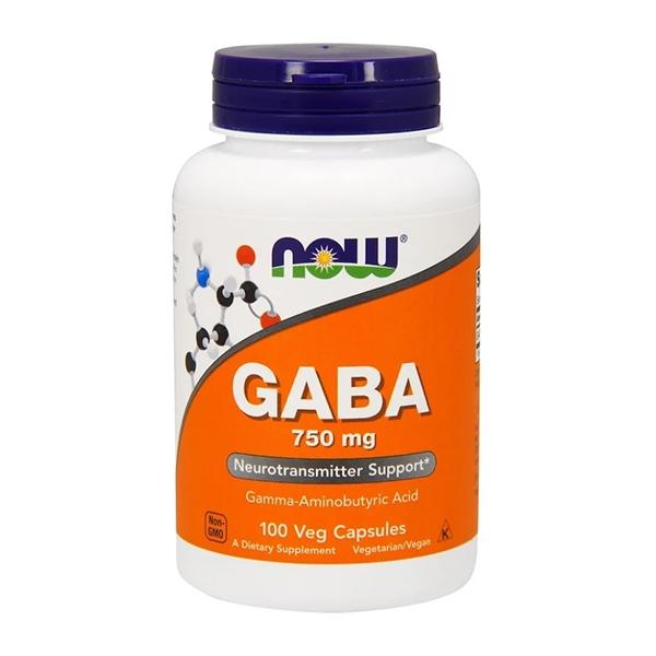 Now GABA 750 мг (100 veg capsules)