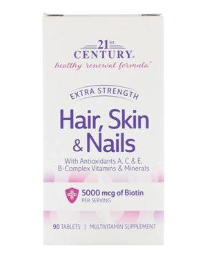 21st Century, Hair, Skin & Nails, Advanced Formula, 90 таблеток