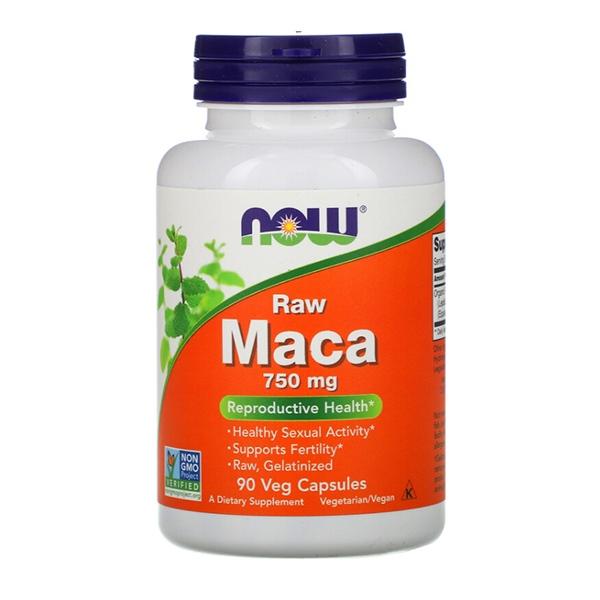 Now Foods, Мака 750 мг, 90 растительных капсул