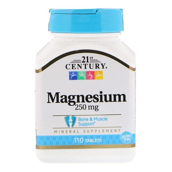 21st Century, Magnesium, 250 mg, 110 таблеток
