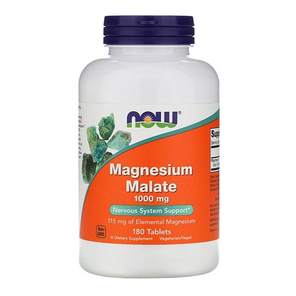 Now Foods, Малат магния, 1000 мг, 180 таблеток