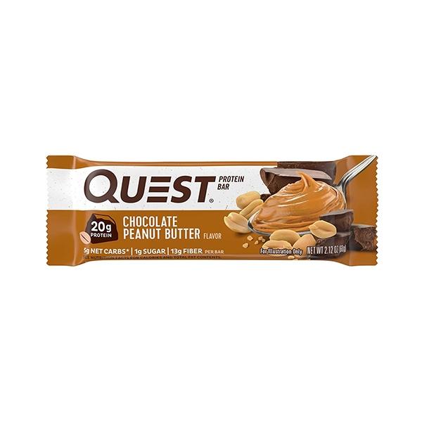 """Quest Bar Протеиновые батончики """"Шоколадное арахисовое масло"""""""