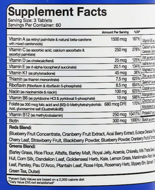 RSP Nutrition, Biovite, улучшенный комплекс мультивитаминов, 180 таблеток