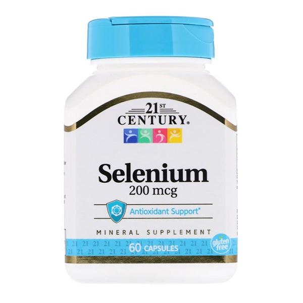 21st Century, Selenium 200 мкг, 60 капсул