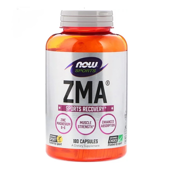 Now Foods, Sports, ZMA, Sports Recovery, 180 Capsules