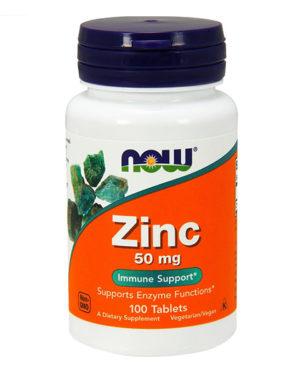 Now Foods, Zinc, 50 mg, 100 таблеток