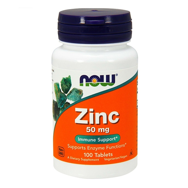 Now Foods, Zinc, 50 mg, 100 таблеток