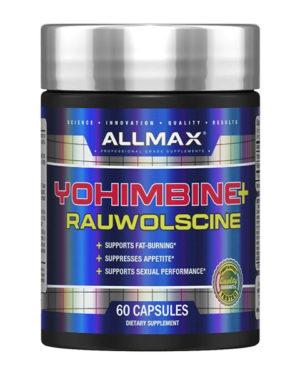 ALLMAX Nutrition, Yohimbine HCI + Rauwolscine, 3.0 mg, 60 Capsules