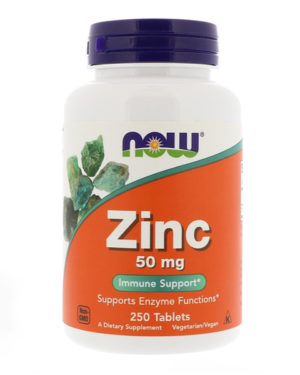 Now Zinc 50mg 250 tablets