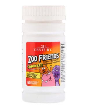 21st Century, Zoo Friends Complete 60 жевательных таблеток