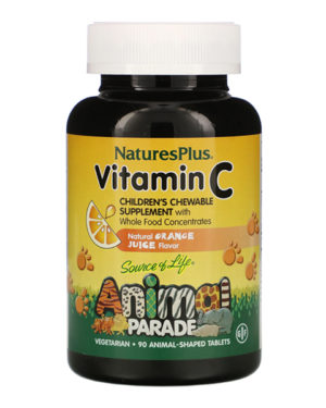 Nature's Plus, Source of Life, Animal Parade, Vitamin C, 90 Animal-Shaped Tablets