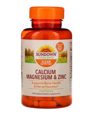 Sundown Naturals, Calcium Magnesium & Zinc, 100 Caplets
