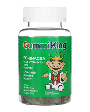 GummiKing, Echinacea Plus Vitamin C+ Zinc for Kids, 60 Gummies