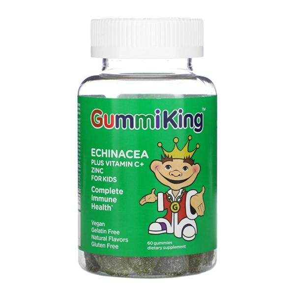 GummiKing, Echinacea Plus Vitamin C+ Zinc for Kids, 60 Gummies