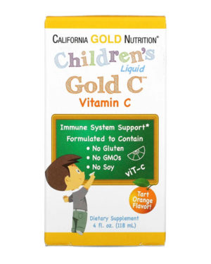 California Gold Nutrition, Children's Liquid Gold Vitamin C, 4 fl oz (118 ml)
