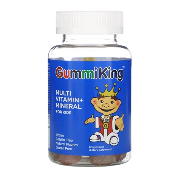 GummiKing, Multi-Vitamin + Mineral for Kids, 60 Gummies
