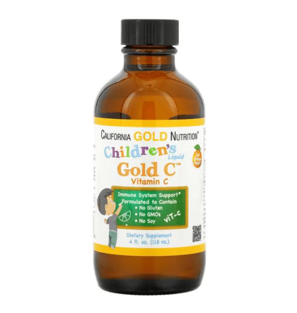 California Gold Nutrition, Children's Liquid Gold Vitamin C, 4 fl oz (118 ml)