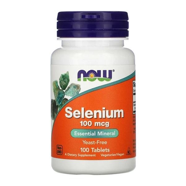 Now Foods, Selenium, (Селен) 100 mcg, 100 Tablets