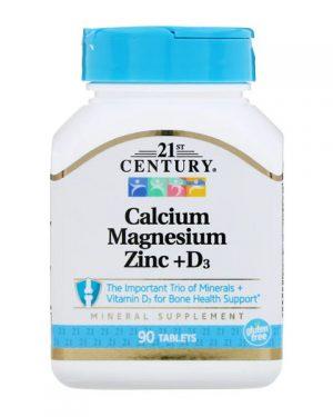 21st Century, Calcium Magnesium Zinc + D3, 90 Tablets By 21st Century