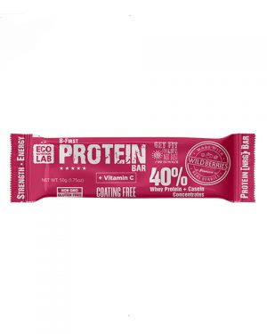 "Eco Nutrition Lab ProteinBar, Whey Protein+Casein ""WildBerries"" 50 g"