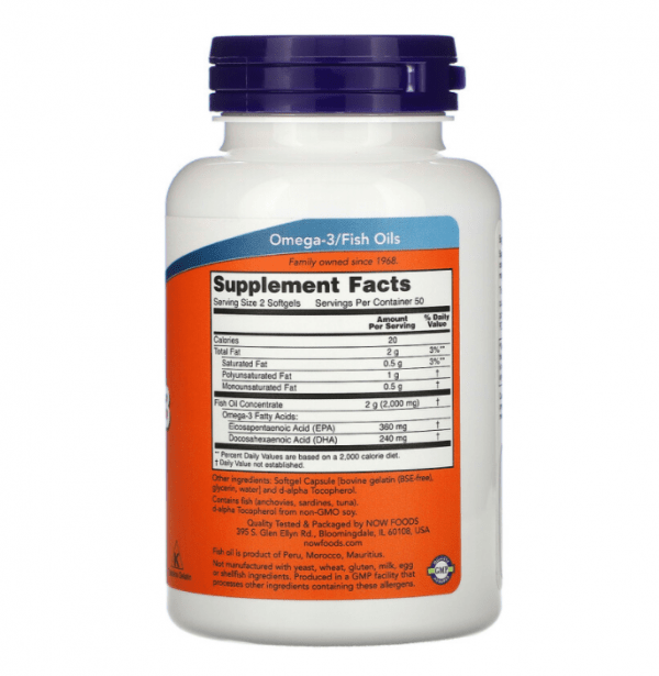 Now Foods, Molecularly Distilled Omega-3, 100 Softgels