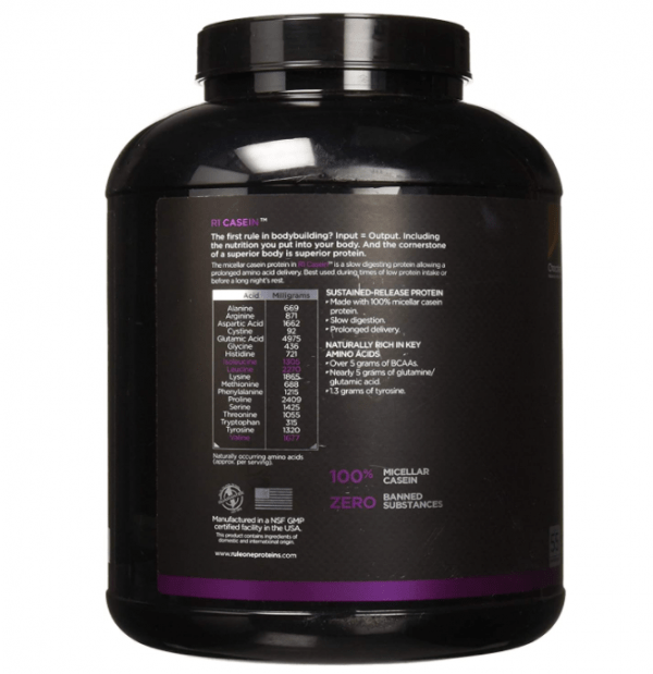 Rule One, Casein, 55 Serving