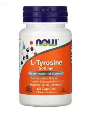 Now Foods, L-Tyrosine, 500 mg, 60 Capsules