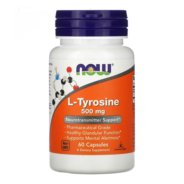Now Foods, L-Tyrosine, 500 mg, 60 Capsules