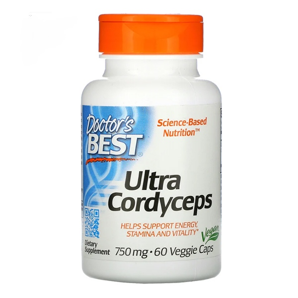Doctor's Best, Ultra Cordyceps, 750 mg, 60 Veggie Caps