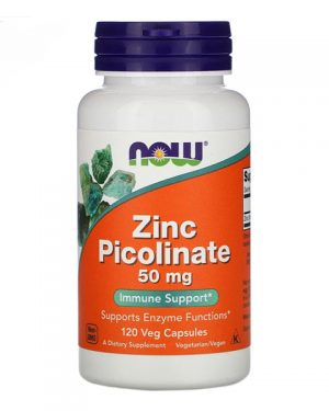 Now Foods, Zinc Picolinate, 50 mg, 120 Veg Capsules