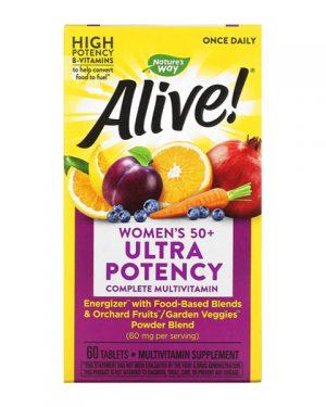 Nature's Way Alive Women's 50+ Ultra Potency Complete Multivitamin 60 Tablets