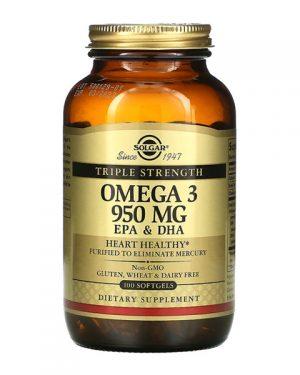 Solgar Omega 3 EPA s DHA 950 MG 100 Softgels